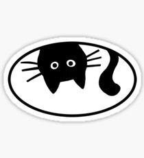 Funny Black Cat Sticker