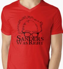 Sanders Was Right Mens V-Neck T-Shirt