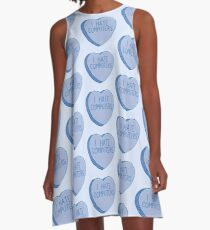 I HATE COMPUTERS heart candy A-Line Dress