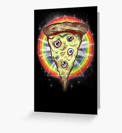 insanity slice Greeting Card