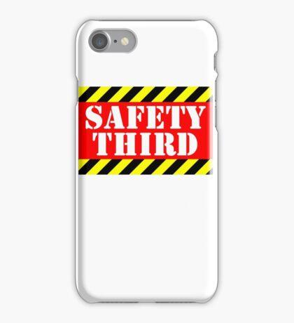 Safety third iPhone Case/Skin