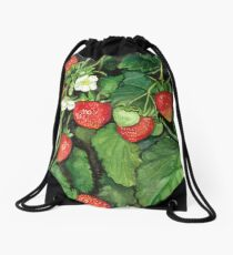 Strawberries - Fresh and Ready to Harvest Drawstring Bag