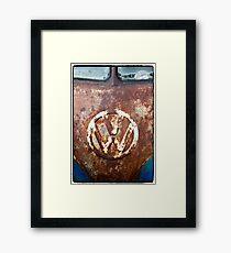 VW Rustic Framed Print