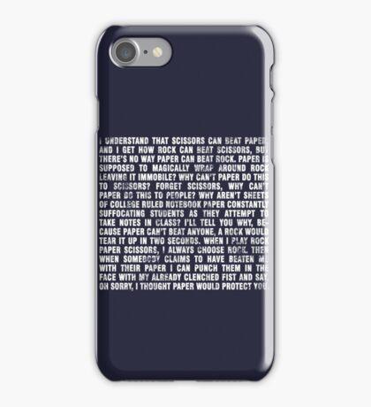 Rock beats paper. iPhone Case/Skin