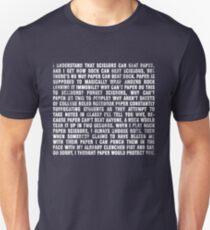 Rock beats paper. T-Shirt