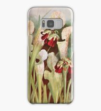 Southern wild flowers and trees together with shrubs vines Alice Lounsberry 1901 061 Trumpets Pitcher Plant Samsung Galaxy Case/Skin