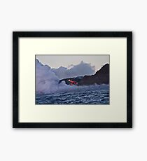 Lava Flow at Kalapana Framed Print