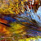 Flowing River Abstract 1 by AlexandraZloto