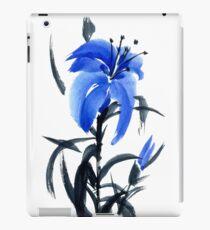 Blue lily iPad Case/Skin