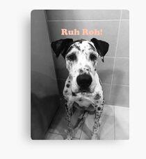 Ruh Roh! - Great Dane Canvas Print