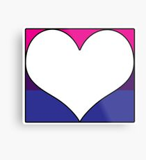 Bi Pride Heart Block Metal Print