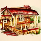 Red Federation Cottage by Rasendyll