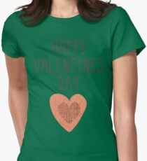 Happy Valentines Day - Heart Womens Fitted T-Shirt