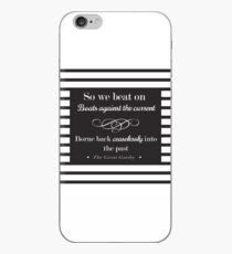 So we beat on - classic stripes iPhone Case
