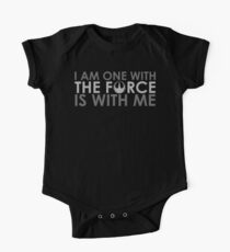 I AM ONE WITH *THE FORCE* IS WITH ME One Piece - Short Sleeve