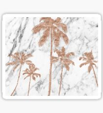 Rose gold marble palms Sticker