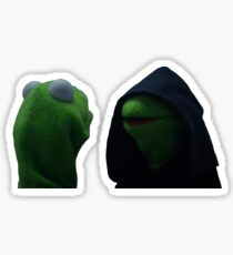 Kermit Me to Me Meme Sticker
