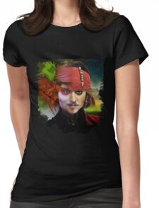 Depp. Womens Fitted T-Shirt
