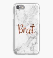 Rose gold marble brat iPhone Case/Skin