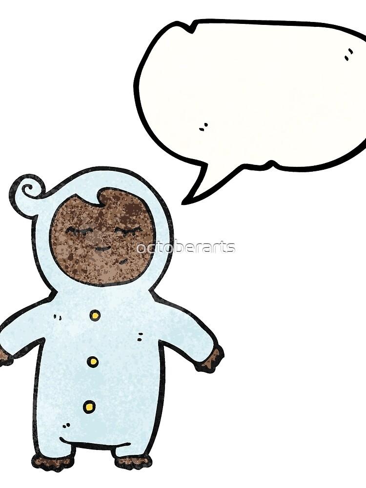 cartoon infant with speech bubble von octoberarts
