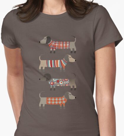 Sausage Dogs in Sweaters Dark T-Shirt
