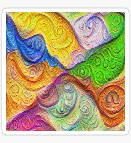 The Color Spots was each carefully sculpted #DeepDream Sticker
