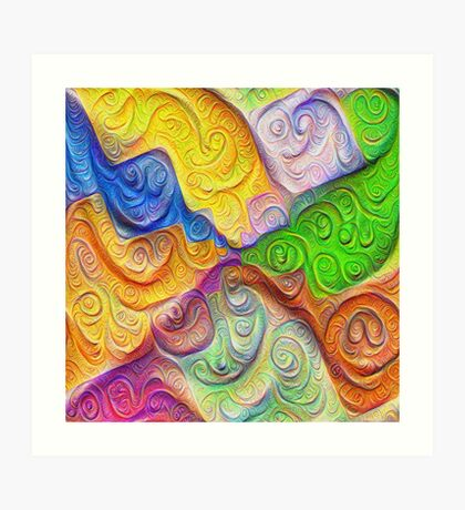 The Color Spots was each carefully sculpted #DeepDream Art Print