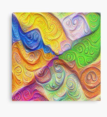 The Color Spots was each carefully sculpted #DeepDream Metal Print