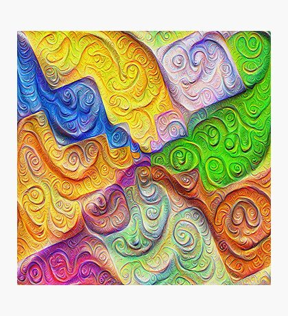 The Color Spots was each carefully sculpted #DeepDream Photographic Print