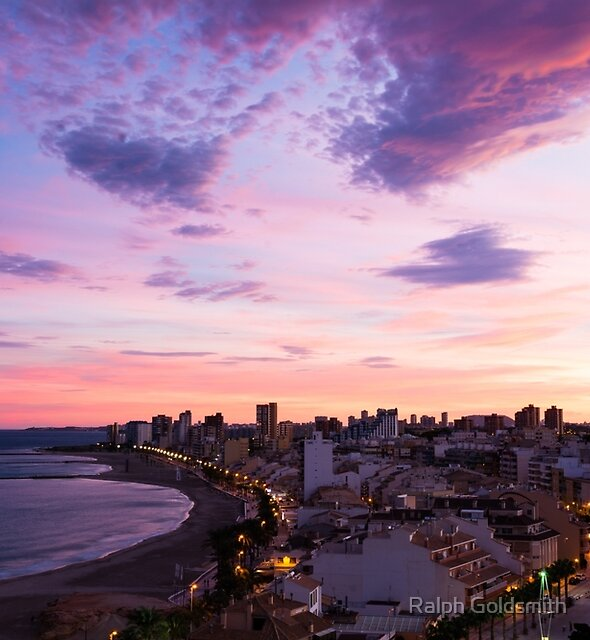 Sunset over El Campello by Ralph Goldsmith