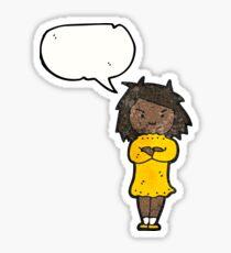 annoyed girl cartoon Sticker