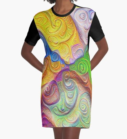 The Color Spots was each carefully sculpted #DeepDream Graphic T-Shirt Dress