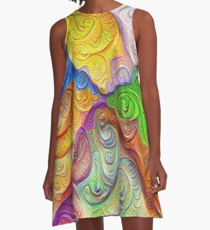 The Color Spots was each carefully sculpted #DeepDream A-Line Dress