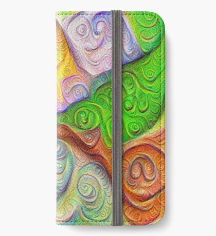 The Color Spots was each carefully sculpted #DeepDream iPhone Wallet