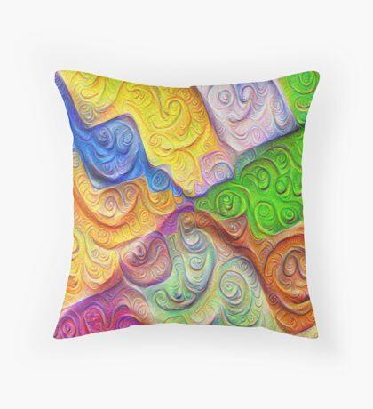 The Color Spots was each carefully sculpted #DeepDream Throw Pillow