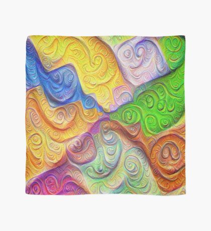 The Color Spots was each carefully sculpted #DeepDream Scarf