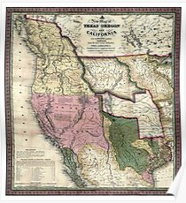 West - United States - 1846 Poster