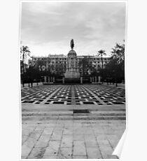 Seville architecture of Plaza Nueva Poster