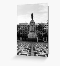 Seville architecture of Plaza Nueva Greeting Card