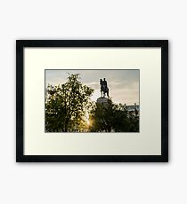 Seville architecture of Plaza Nueva  Framed Print