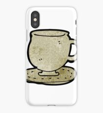 cup and saucer cartoon iPhone Case/Skin