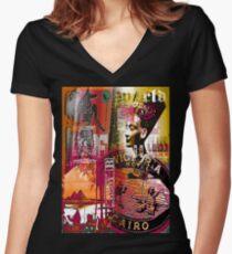 egypt Women's Fitted V-Neck T-Shirt