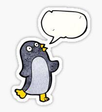 dancing penguin cartoon character Sticker