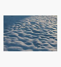 Snowy Lumps Photographic Print