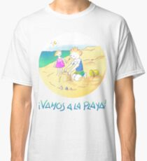 ¡VAMOS A LA PLAYA!  ·  LET´S GO TO THE BEACH! Camiseta clásica