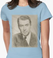 James Stewart Hollywood Actor Womens Fitted T-Shirt
