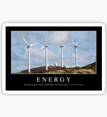 Energy: Inspirational Quote and Motivational Poster Sticker