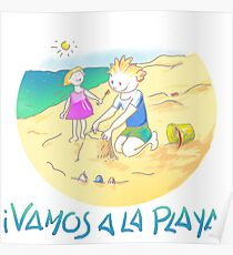 ¡VAMOS A LA PLAYA!  ·  LET´S GO TO THE BEACH! Póster