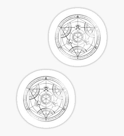 Human transmutation circle - charcoal Sticker
