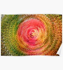 Abstract Autumn Leaf Swirl Poster